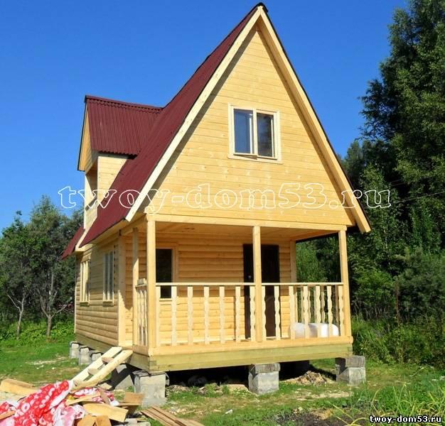Дом из профилированного бруса построен по проекту