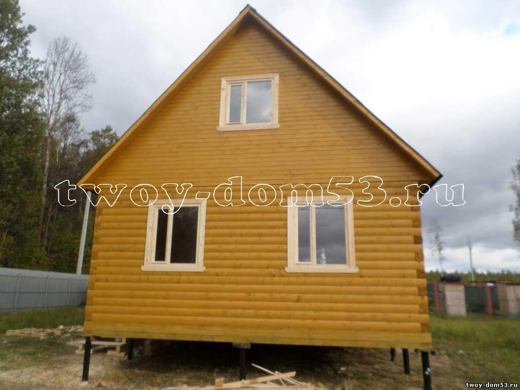 Завершено строительство дома из бруса по проекту Д38 в Московской области, Ступинском районе, СНТ Лотос-3