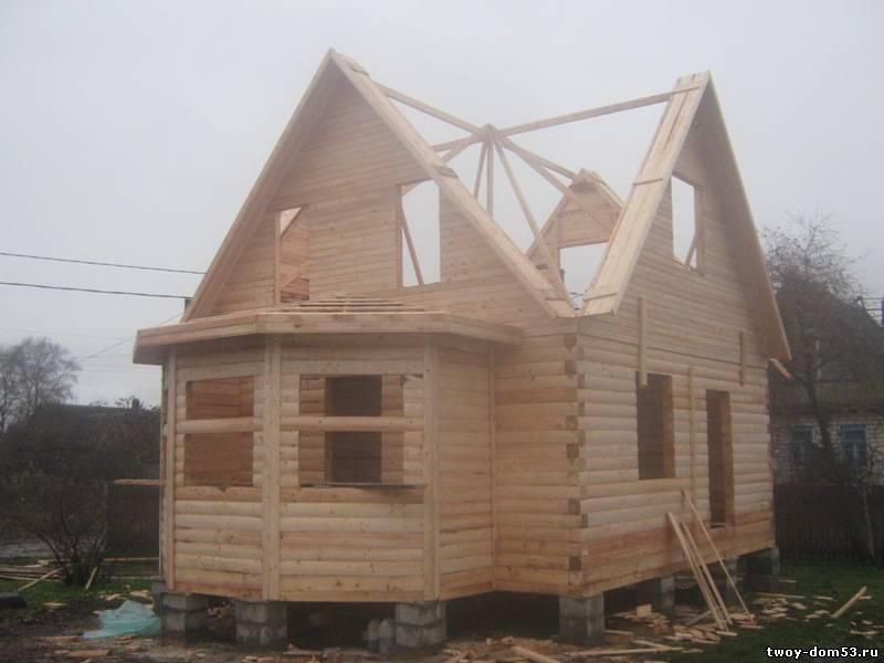 Дом своими руками из бруса 6-6 67