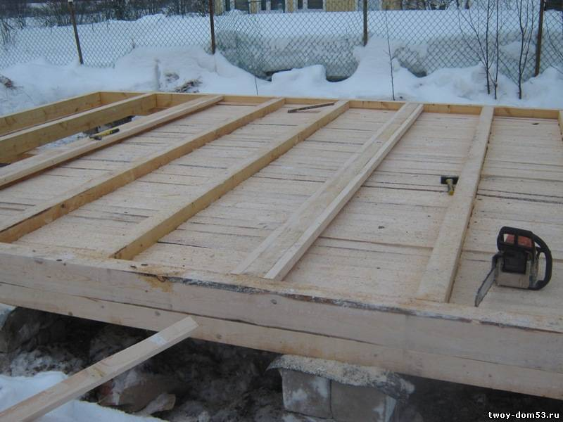 Это обосновано тем, что заготовленная в этот период древесина имеет...  Лаги, изготовленные из доски 50х150мм...
